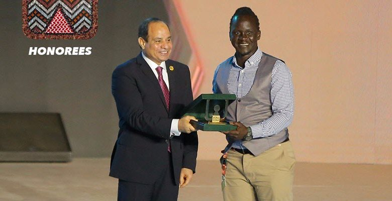 Egyptian President Honors Safe Boda founder, Ricky Papa in Cairo on Sunday