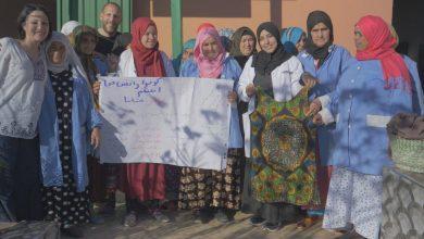 Italian film maker Sara Vicari and Andrea Mancori in one of their stops in Morocco